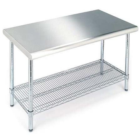 Details about STAINLESS STEEL KITCHEN GARAGE WORK STORAGE TABLE NEW !