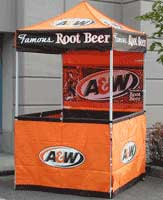 5x5 Impact Display DS 1 1/8  Leg & Custom Printed Tents and Canopy Graphics - HutShop.com