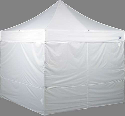 4 Zipper Roll up Sidewalls. Ez & E-Z UP Commercial Grade 10x10 Pop Up Canopy ES 100 S - HutShop.com