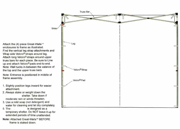 Craft Dome Sidewall Instructions  sc 1 st  HutShop.com & EZ UP Canopy 10 x 10 Canopy Tent Craft Dome EnDeavor - Awning ...